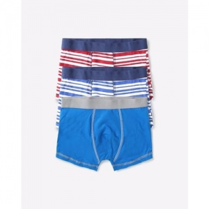 AJIO Pack of 3 Boxers with Elasticated Waistband
