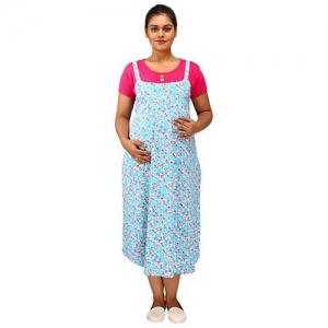 91cbab34b04 Mamma's Maternity Mammas Maternity Short Sleeves Dress With Pocket Floral  Print - Sky Blue Pink