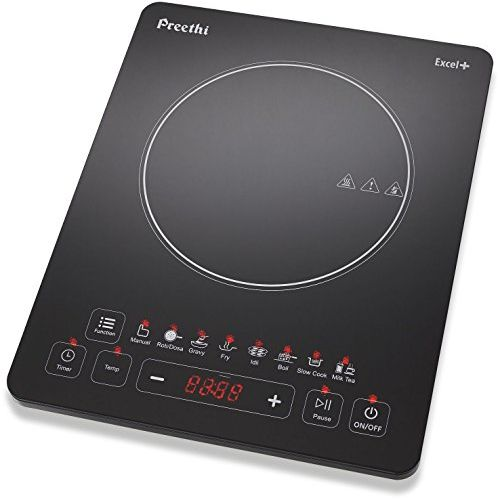 Preethi Excel Plus 117 1600-Watt Induction Cooktop (Black)