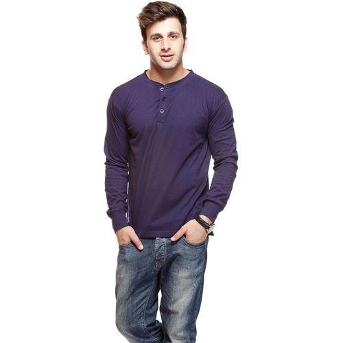 b5abaa0f3 Buy Gritstones Solid Men Round Neck Blue T-Shirt online   Looksgud.in
