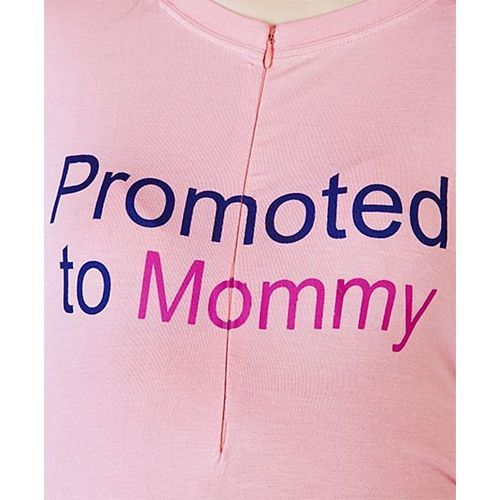 Blush 9 Promoted To Mommy Printed Tunic Dress - Pink