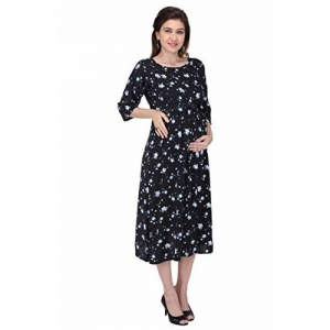 MomToBe Women's Rayon Maternity Dress