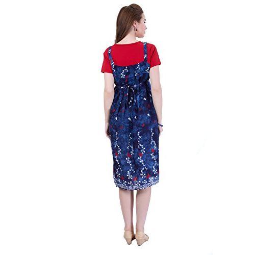 MomToBe Women's Rayon Black Maternity Dress