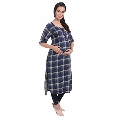 MomToBe Women's Rayon Maternity Kurti