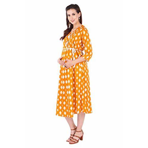 MomToBe Women's Rayon Maternity Dress