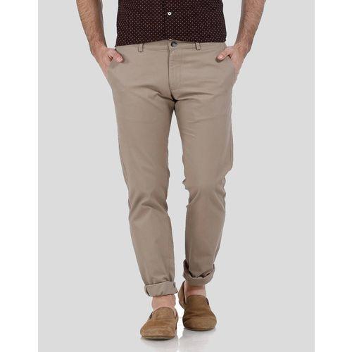 Basics Tapered Men Beige Trousers
