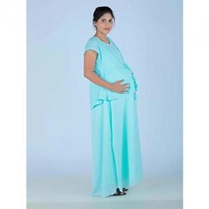 52e88313808e8 Ziva Maternity Wear Maternity and nursing full gown with Hakoba Jacket