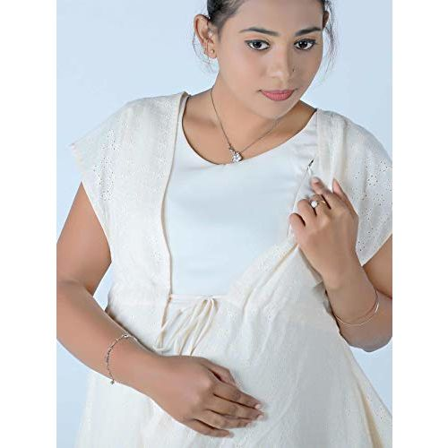 Ziva Maternity Wear Maternity and nursing full gown with Hakoba Jacket