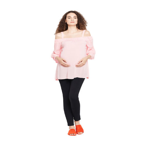 Oxolloxo Maternity Pink Textured Top
