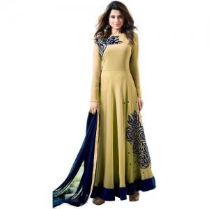 e639223c2b PCDESIGNER Poly Georgette Self Design Salwar Suit Material(Semi Stitched)