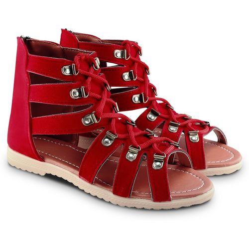 Cattz Women Red Flats