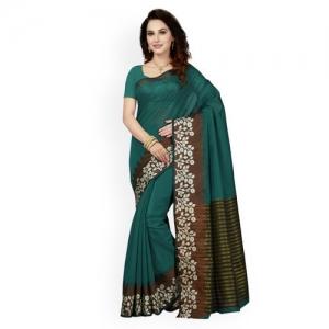 466beadc98 Buy Saree Swarg Blue Silk Blend Woven Design Banarasi Saree online ...