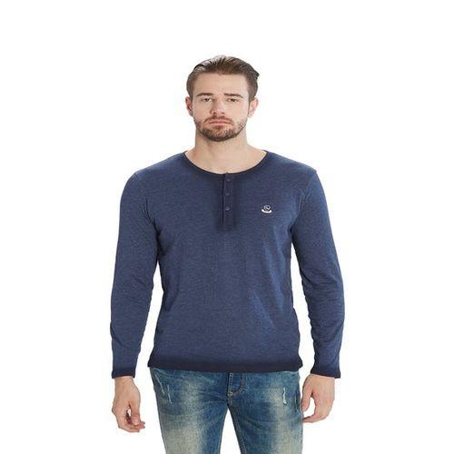 Spykar Blue Henley T-Shirt