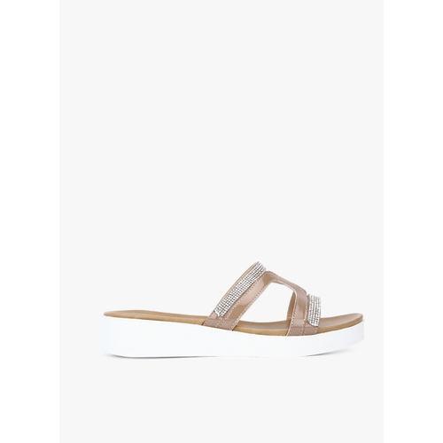 Carlton London skin Open Toe Flats Sandals