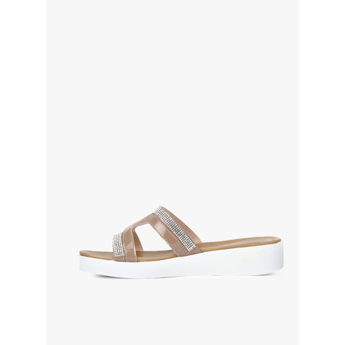 Carlton London skin Open Toe Flats Sandals