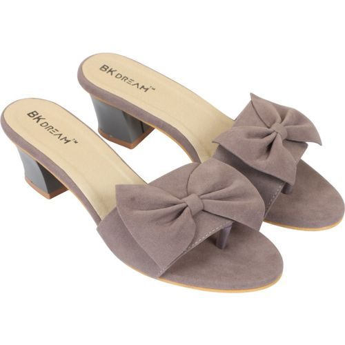 BK DREAM Women Grey Heels