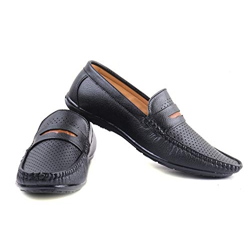 EDME Black Loafers Slipon Casual Shoes