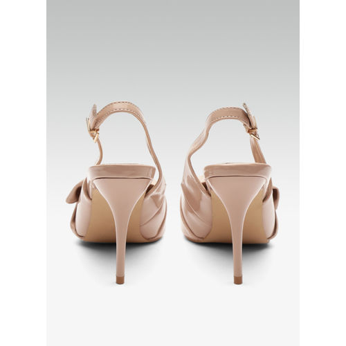 Carlton London Beige Synthetic Sandals