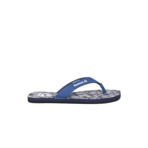 Reebok Men Blue & Grey Axon Printed Thong Flip-Flops