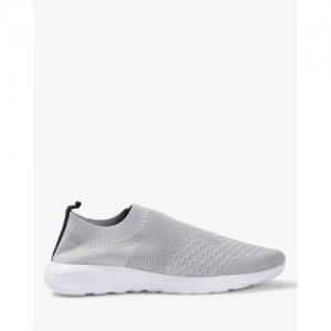 AJIO Low-Top Slip-On Sock White Casual Shoes
