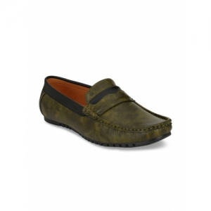 Guava Men Olive Green Loafers