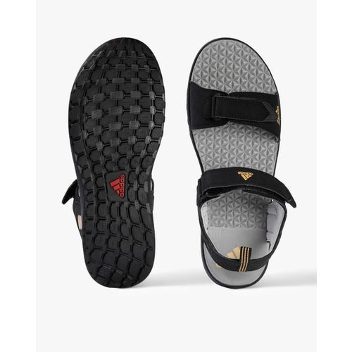 Textured Sports Sandals with Velcro