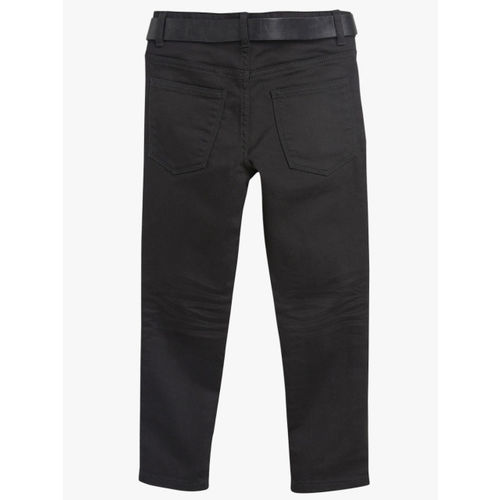 next Boys Black Regular Fit Mid-Rise Clean Look Jeans