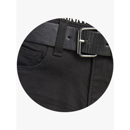 next Boys Black Regular Fit Mid-Rise Clean Look Jeans