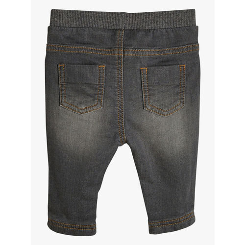 next Boys Grey Slim Fit High-Rise Clean Look Jeans