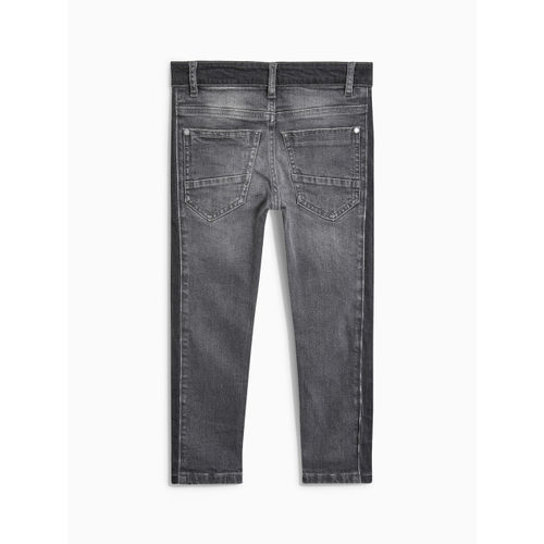 next Boys Grey Mid-Rise Clean Look Stretchable Jeans