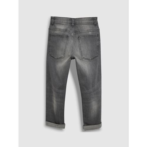next Boys Grey Regular Fit Mid-Rise Clean Look Stretchable Jeans