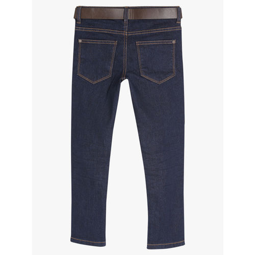 next Boys Navy Blue Regular Fit Mid-Rise Clean Look Jeans