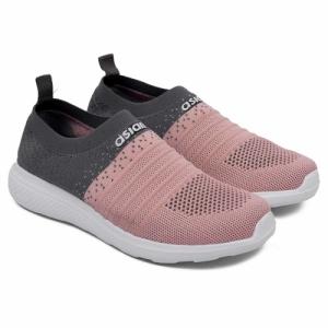 ASIAN Elasto-02 Peach PU Mesh Slip-On Sport Shoes