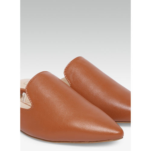 Carlton London Tan Solid Mules