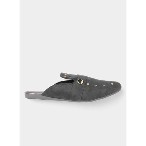 Lavie Grey Solid Mules