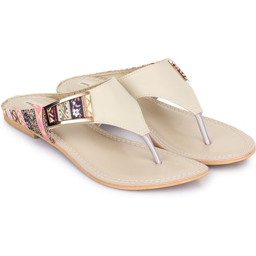 Shezone Women Cream Flats