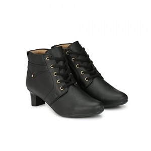 Neso Black  Women's Leather Boots