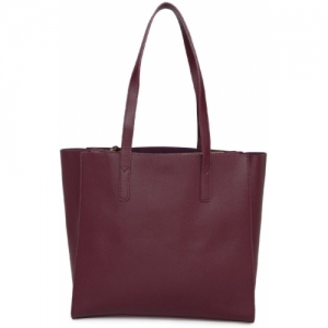 Dressberry Maroon Leather Solid Shoulder Bag