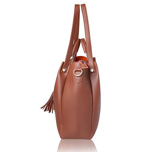 Women Marks Brown Polyurethane Hand Bag
