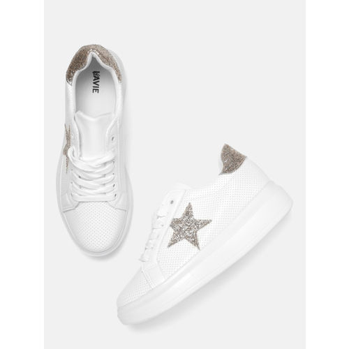 Lavie Women White Perforated Sneakers