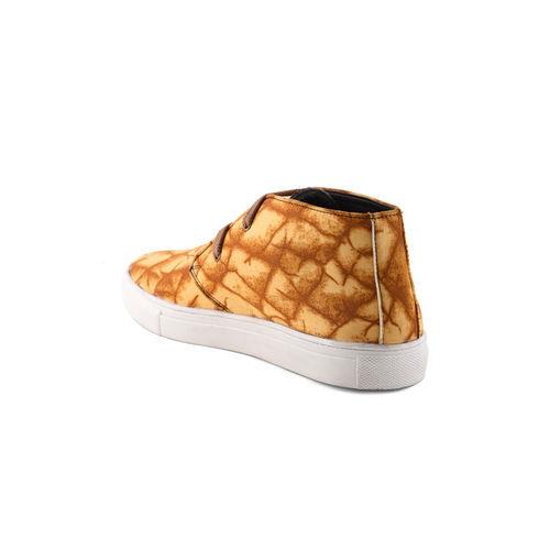 Bruno Manetti Women Tan Brown Printed Sneakers