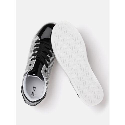 Lavie Women Black & White Checked Sneakers