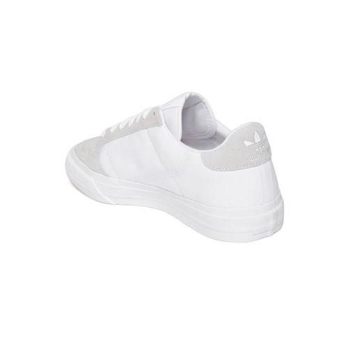 ADIDAS Originals ADIDAS Unisex White & Grey Continental Vulc Colourblocked Sneakers