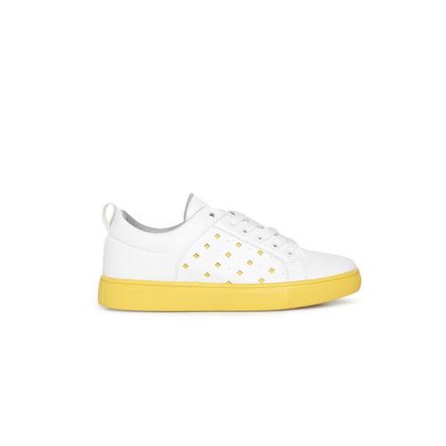 CERIZ Women White Sneakers
