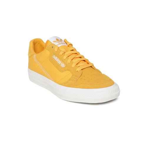 ADIDAS Originals ADIDAS Unisex Mustard Yellow Continental Vulc Sneakers
