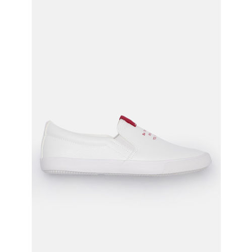 Kook N Keech Women White Slip-On Sneakers