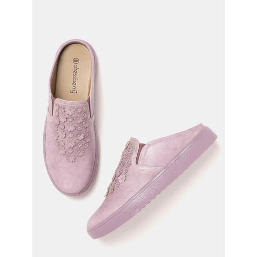 DressBerry Women Lavender Slip-On Sneakers