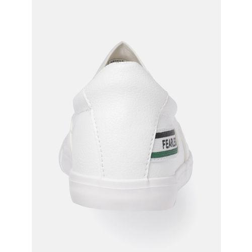 Kook N Keech Women White Slip-On Sneakers