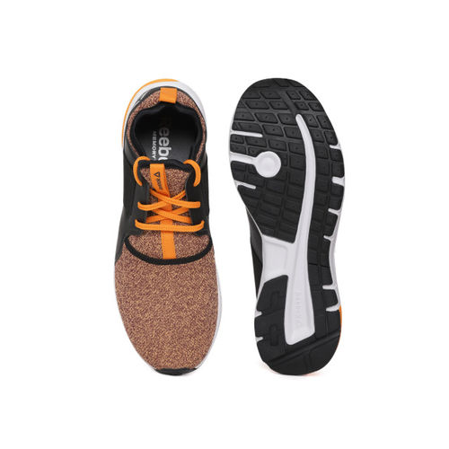 Reebok Men Orange & Black Strom Colourblocked Running Shoes
