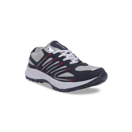 Asian Men Grey & Blue Running Shoes